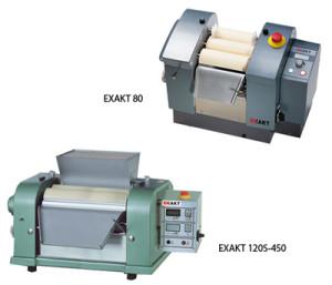 EXAKT 80 and 120S, three roll mill